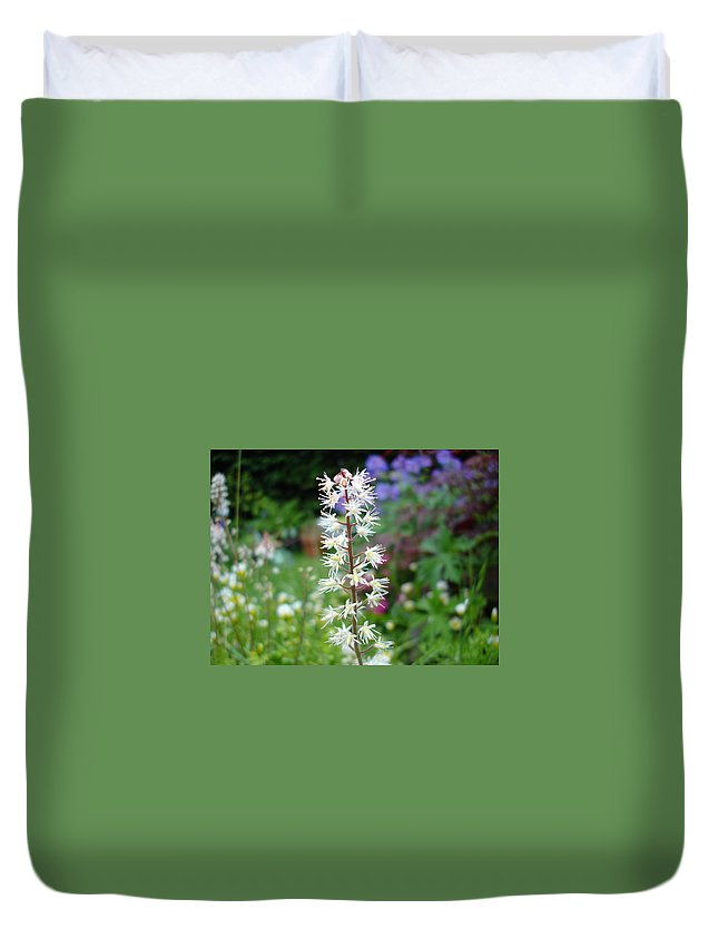 Flower Duvet Cover featuring the photograph Heucharella - Fairy Bells by Susan Baker