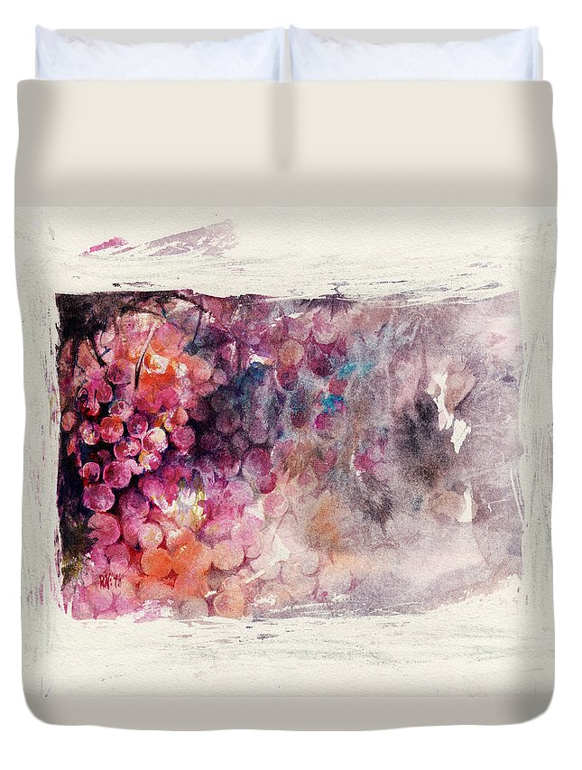 Grapes Duvet Cover featuring the painting Hidden Beauty by Rachel Christine Nowicki