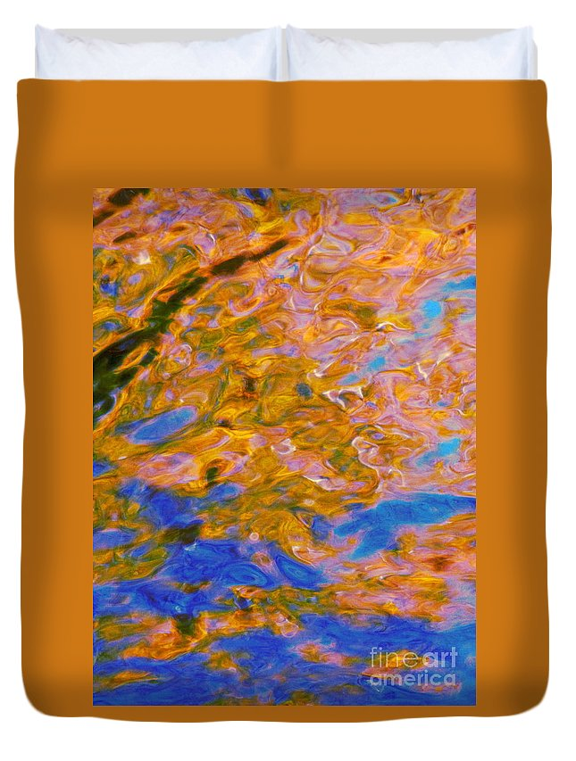 Water Art Duvet Cover featuring the photograph Hidden Dimensions by Sybil Staples
