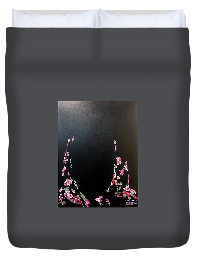 Acrylic Canvas Painting Hidden In Plain Sight Unida Umidapalmer Painting Duvet Cover featuring the painting Hidden In Plain Sight by Umida Palmer