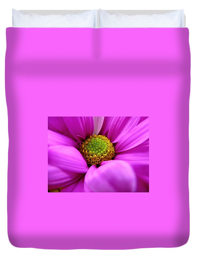 Flower Duvet Cover featuring the photograph Hidden Inside by Rhonda Barrett