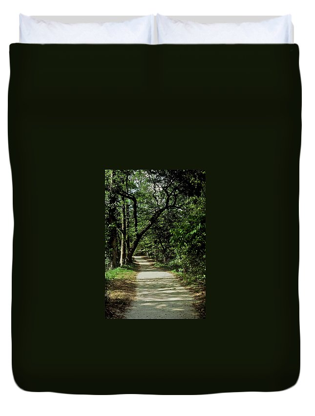 Path Duvet Cover featuring the photograph Hidden Path by Gary Wonning