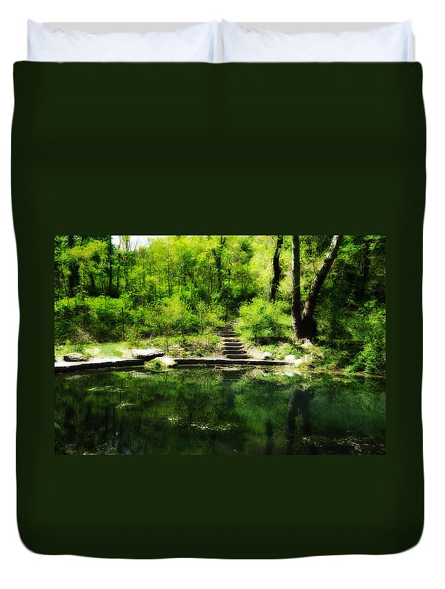 Pond Duvet Cover featuring the photograph Hidden Pond At Schuylkill Valley Nature Center by Bill Cannon