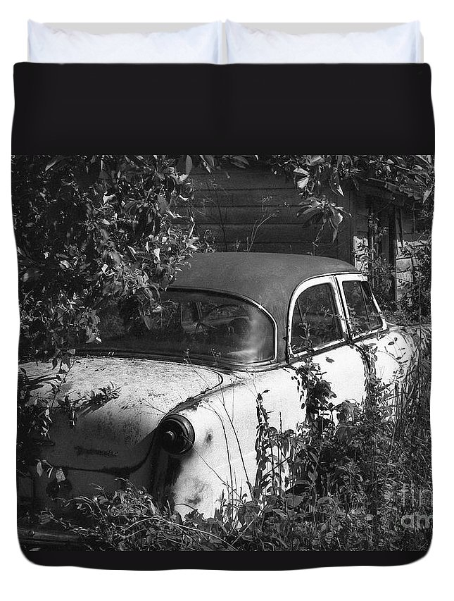 Abandoned Duvet Cover featuring the photograph Hidden Treasure by Richard Rizzo