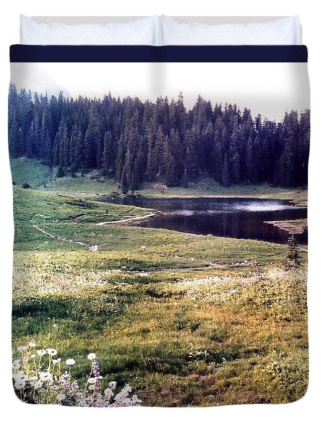 Mountains Duvet Cover featuring the photograph Hidden Valley by Carol Allen Anfinsen