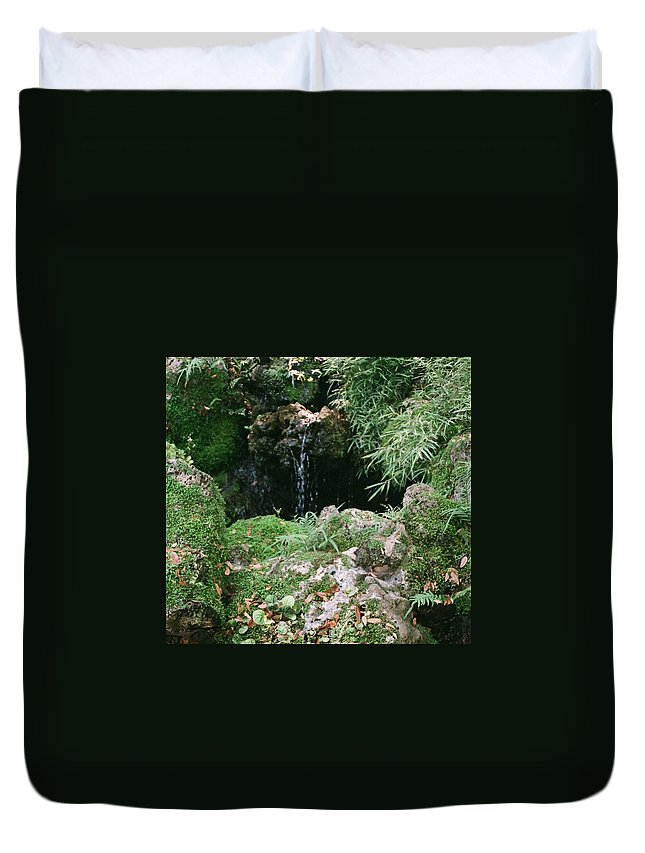 Nature Duvet Cover featuring the photograph Hidden Waterfall by Dean Triolo