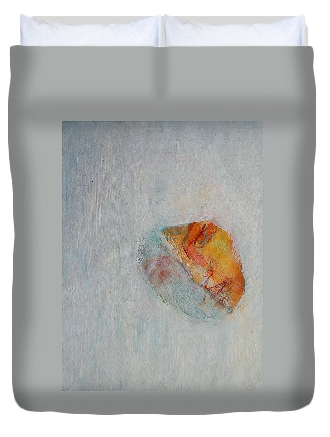 Abstract Duvet Cover featuring the painting Hiding Place by Judith Redman