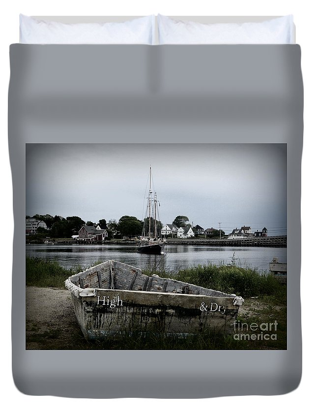 Boats Duvet Cover featuring the photograph High And Dry by Julie Hodgkins