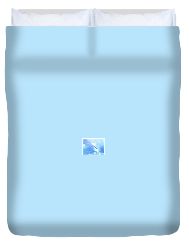 Clouds Duvet Cover featuring the digital art High Life by Amber Stubbs