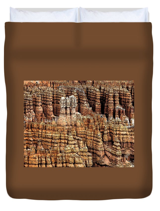 Bryce Canyon Duvet Cover featuring the photograph High Style Hoodoo by Rick Selin