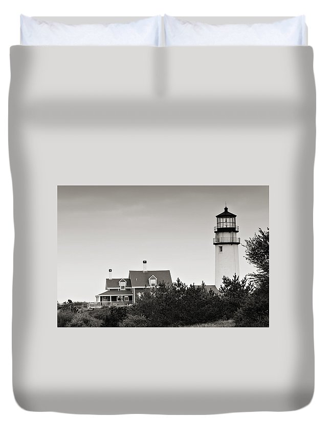 Lighthouse Duvet Cover featuring the photograph Highland Light At Cape Cod by Renee Hong
