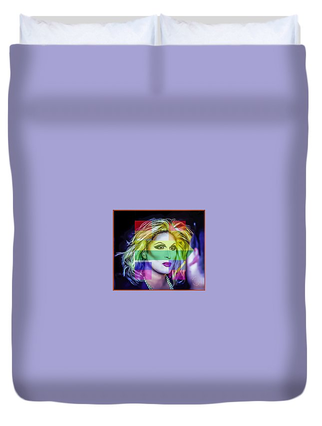 Duvet Cover featuring the photograph Hillary Dito by John Jack