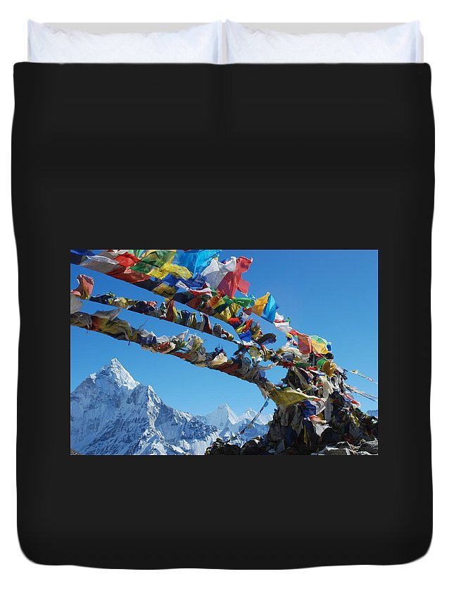 Himalayas Duvet Cover featuring the photograph Himalayas In Nepal by Jeremy Jones
