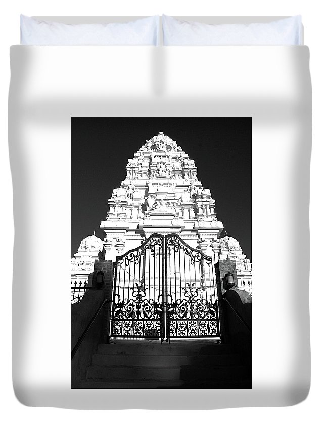 Temple Duvet Cover featuring the photograph Hindu Temple by Jack Collins