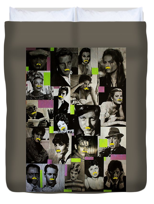 Cinema Duvet Cover featuring the painting Hipster by Federico Biancotti