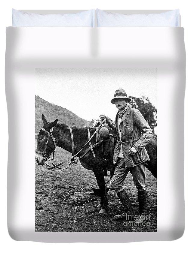 1911 Duvet Cover featuring the photograph Hiram Bingham (1875-1956) by Granger