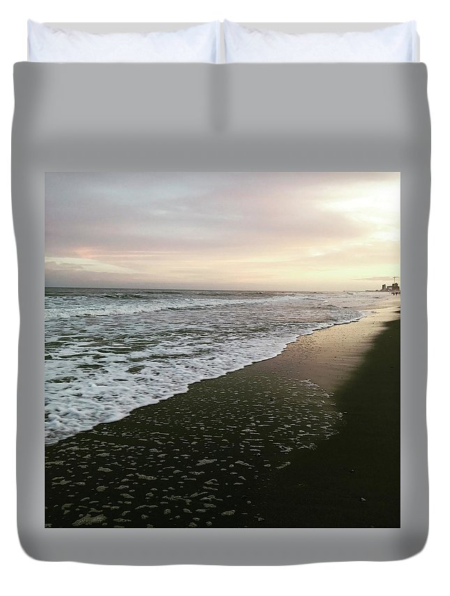 Ocean Duvet Cover featuring the photograph His Peace by Melissa Golden