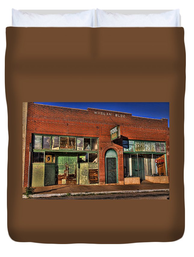 Lowell Duvet Cover featuring the photograph Historic Storefront In Bisbee by Charlene Mitchell