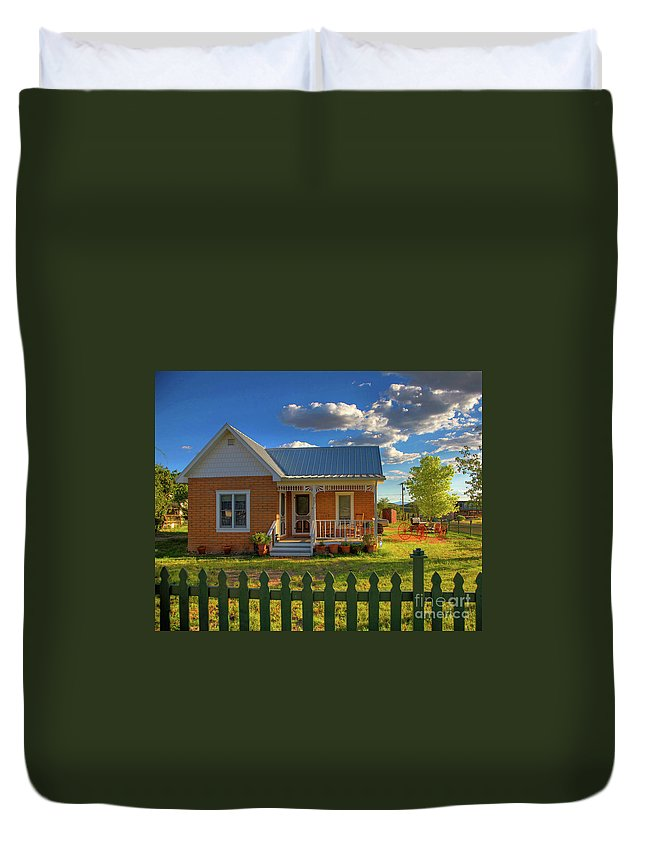Landscape Duvet Cover featuring the photograph Historic Tombstone In Arizona by Charlene Mitchell