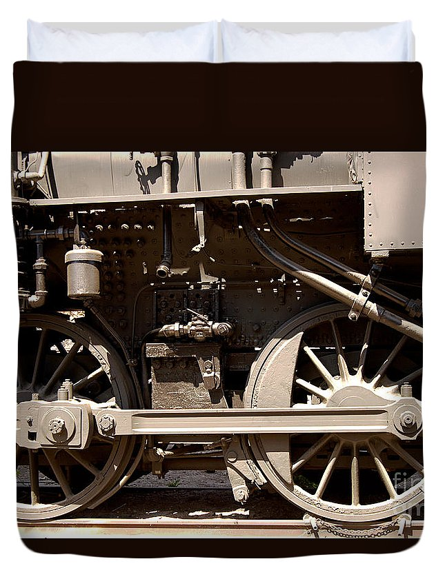 Clay Duvet Cover featuring the photograph Historic Trains by Clayton Bruster