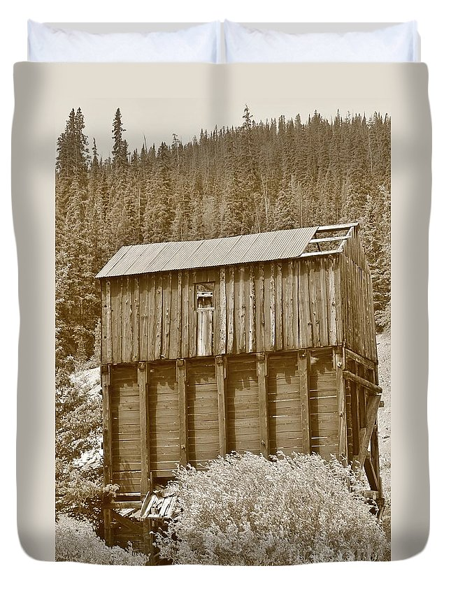 Nature Duvet Cover featuring the photograph History In Tincup 2 by Tonya Hance