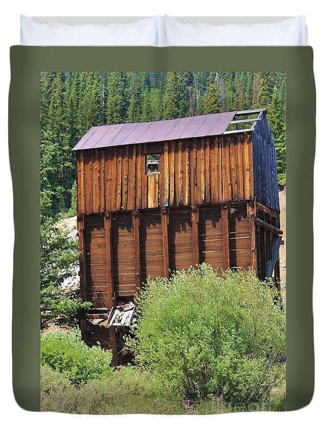 Nature Duvet Cover featuring the photograph History In Tincup by Tonya Hance