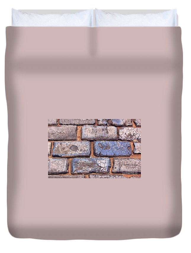 Street Duvet Cover featuring the photograph Hit The Bricks by Debbi Granruth