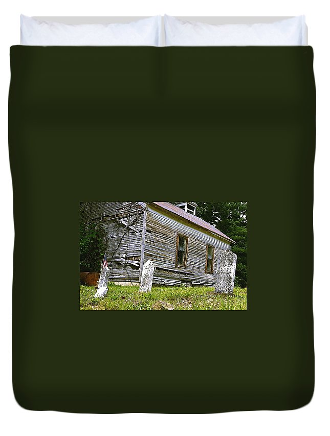 Church Duvet Cover featuring the photograph Hocking Hills Church by Nelson Strong