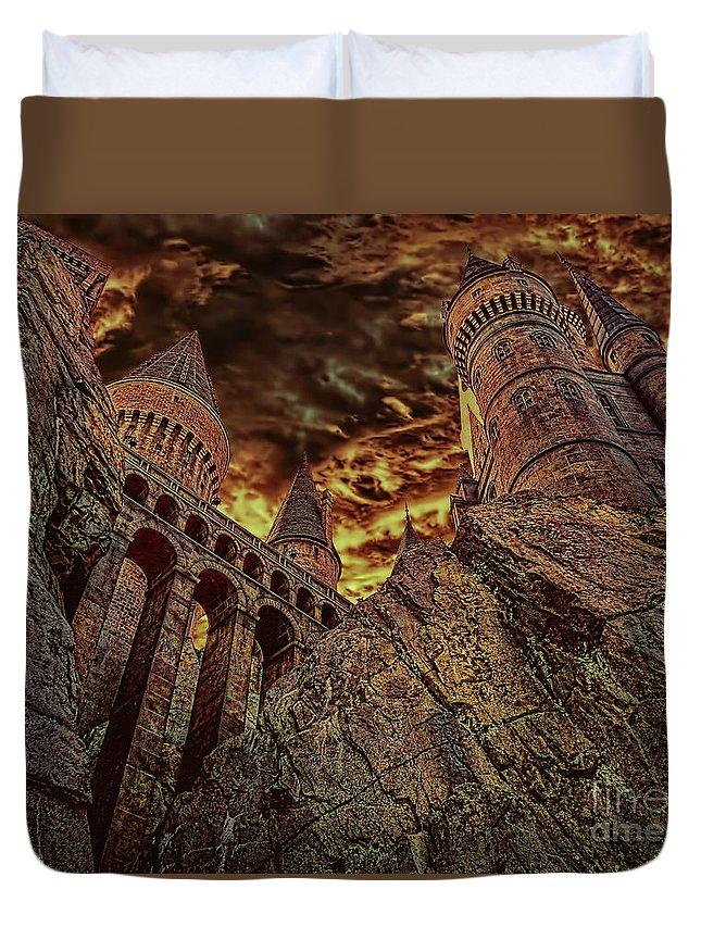 Hogwarts Castle Duvet Cover featuring the photograph Hogwarts Castle by Olga Hamilton
