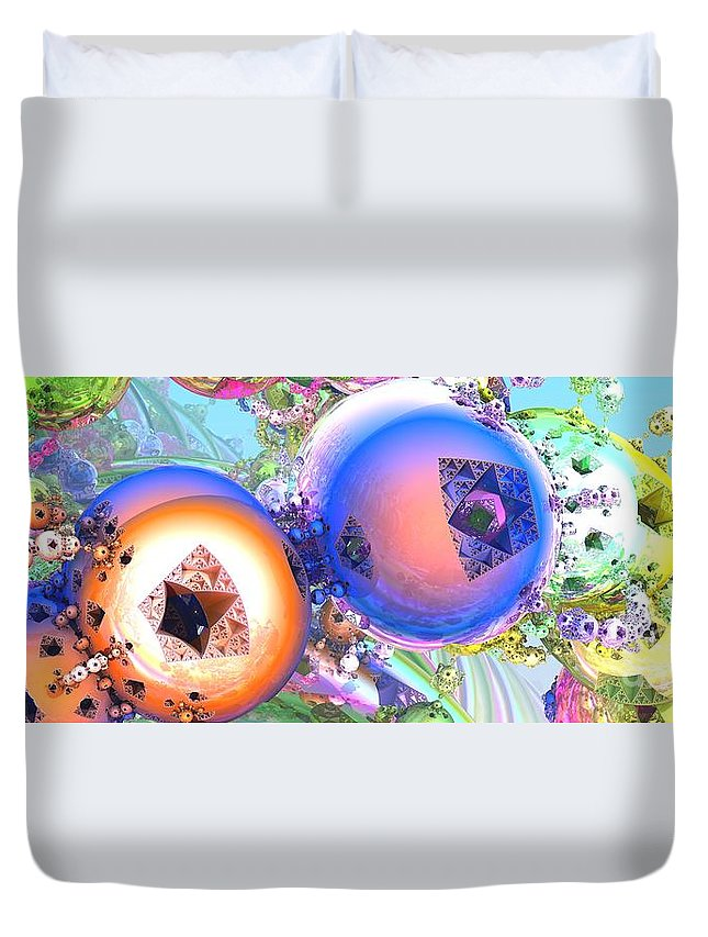 Fractal Duvet Cover featuring the digital art Holiday Celebrations by Jon Munson II
