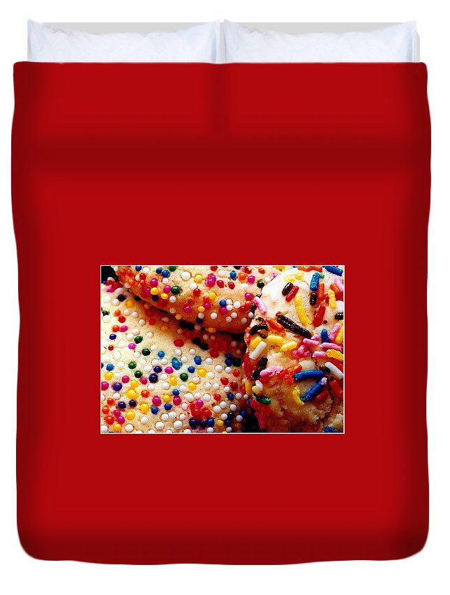 Cookie Duvet Cover featuring the photograph Holiday Cookies by Nancy Mueller
