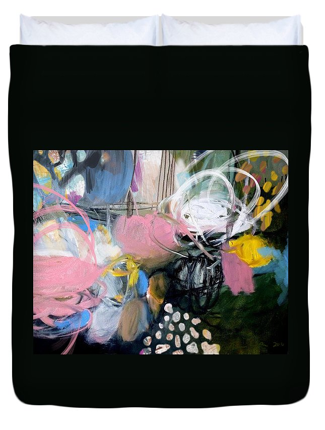 Abstract Duvet Cover featuring the digital art Holiday II by Theresa Bean