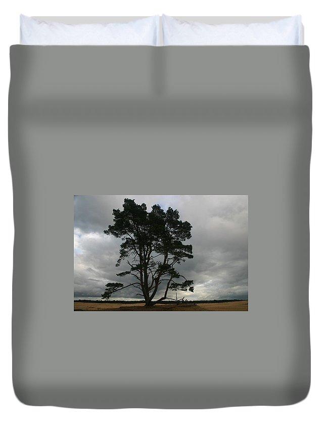 Storm Duvet Cover featuring the photograph Holland Desert by Minaz Jantz