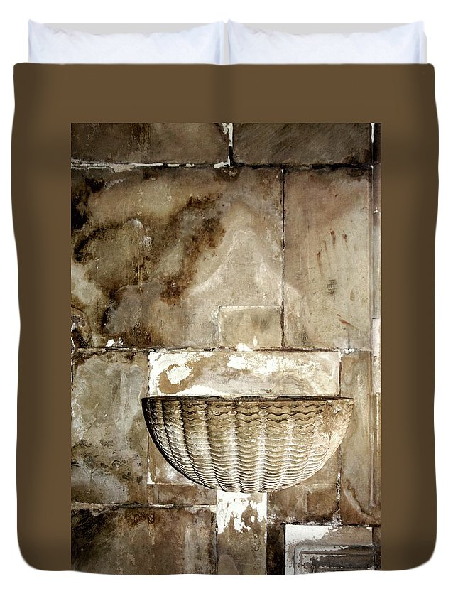 Holy Water Duvet Cover featuring the photograph Holy Water by Raquel Daniell