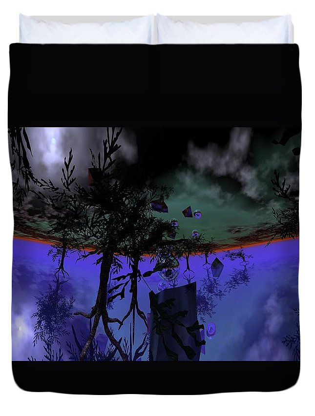 Digital Painting Duvet Cover featuring the digital art Homage by David Lane