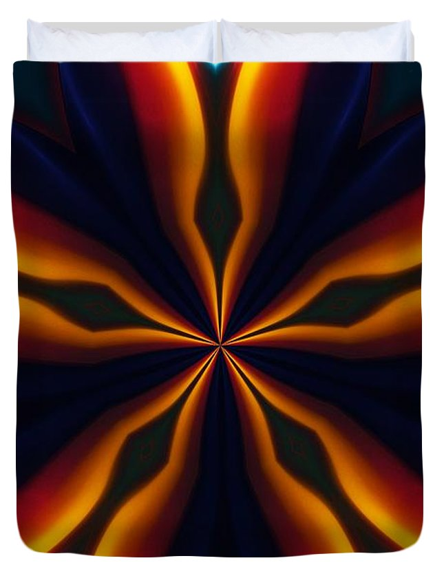 Abstract Duvet Cover featuring the digital art Homage To Georgia O'keeffe by David Lane