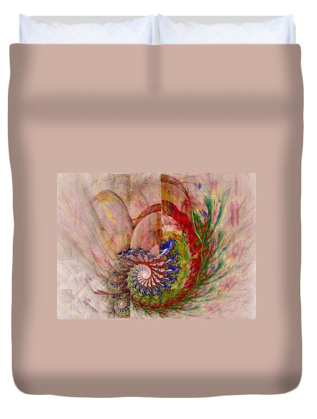 Non-representational Duvet Cover featuring the digital art Home By The Sea by NirvanaBlues