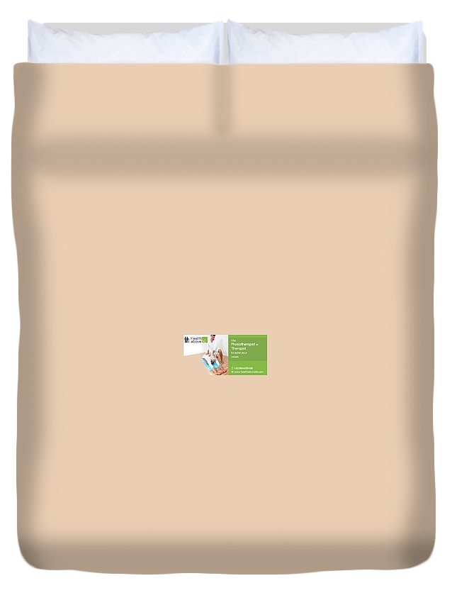 Home Healthcareservices In Chennai Duvet Cover featuring the mixed media Home Care Medical Services by Front Enders