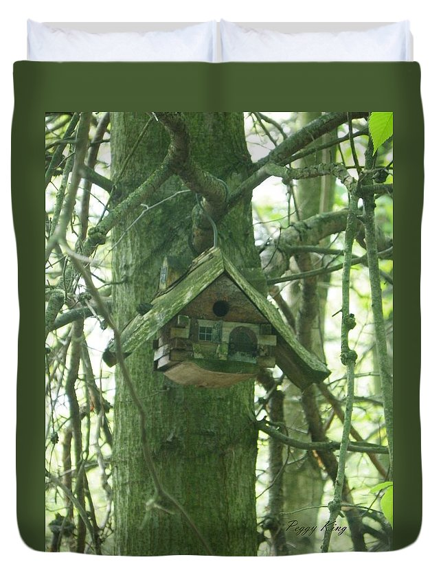 Heartland Forest Duvet Cover featuring the photograph Home In The Heartland by Peggy King