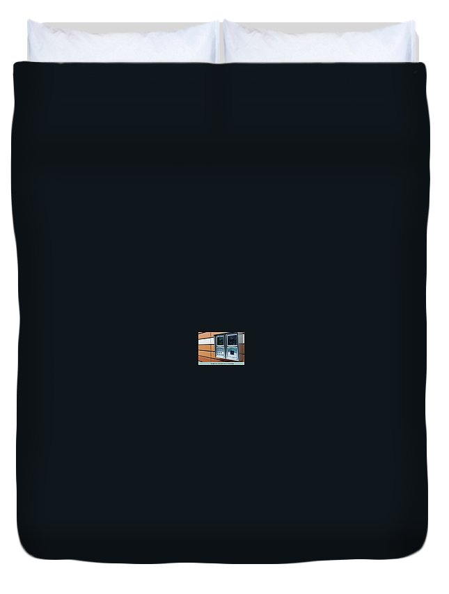 Dee Why Locksmith Duvet Cover featuring the photograph Home Intercom System by Glenn Muller