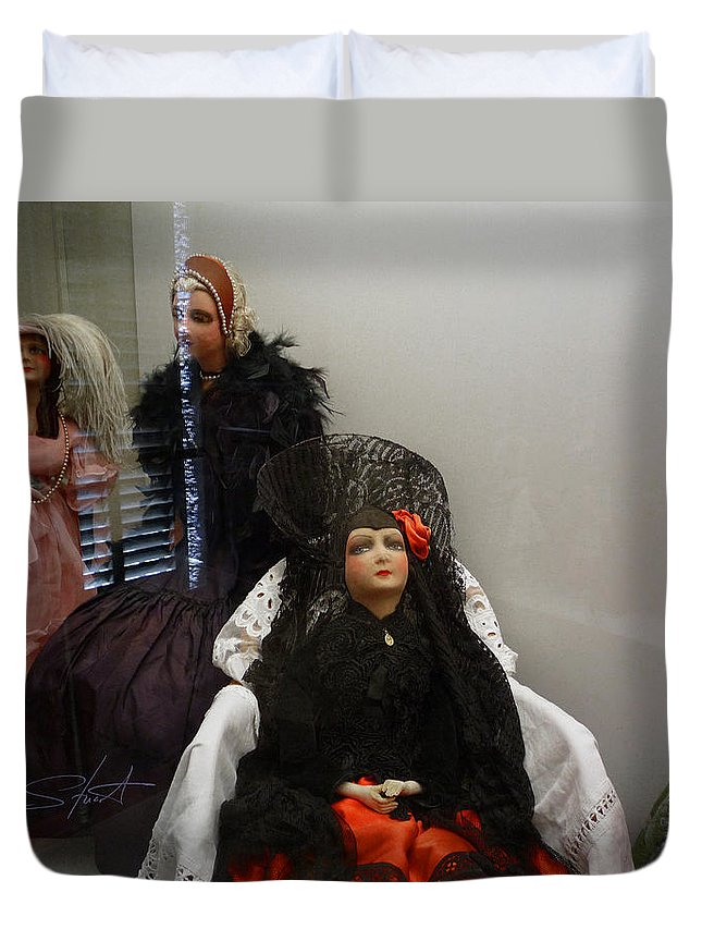 Dolls Duvet Cover featuring the photograph Home Is Where The Heart Is by Charles Stuart
