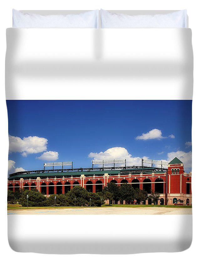 Sky Duvet Cover featuring the photograph Home Of The Texas Rangers by Mountain Dreams