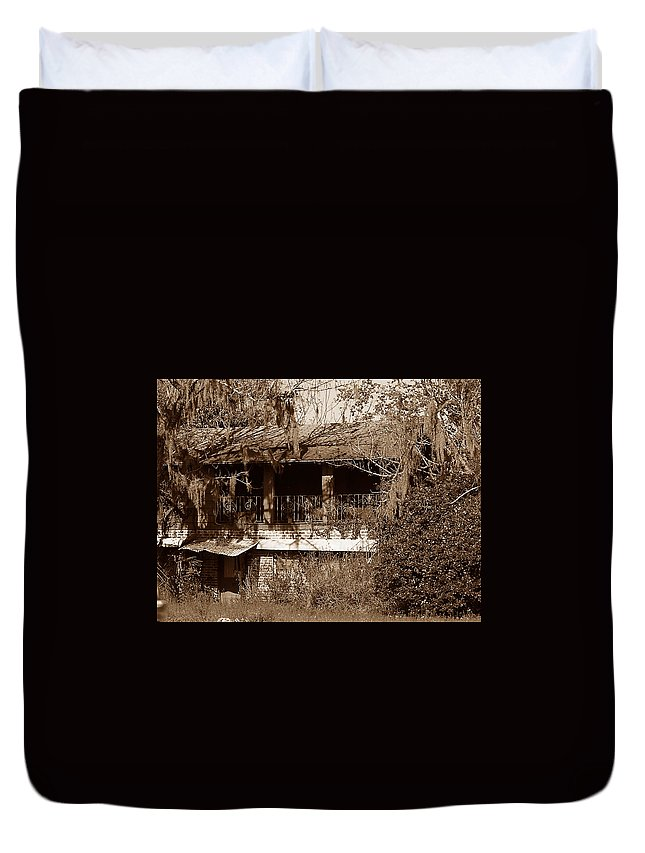 House Duvet Cover featuring the photograph Home Sweet Home by Bob Johnson