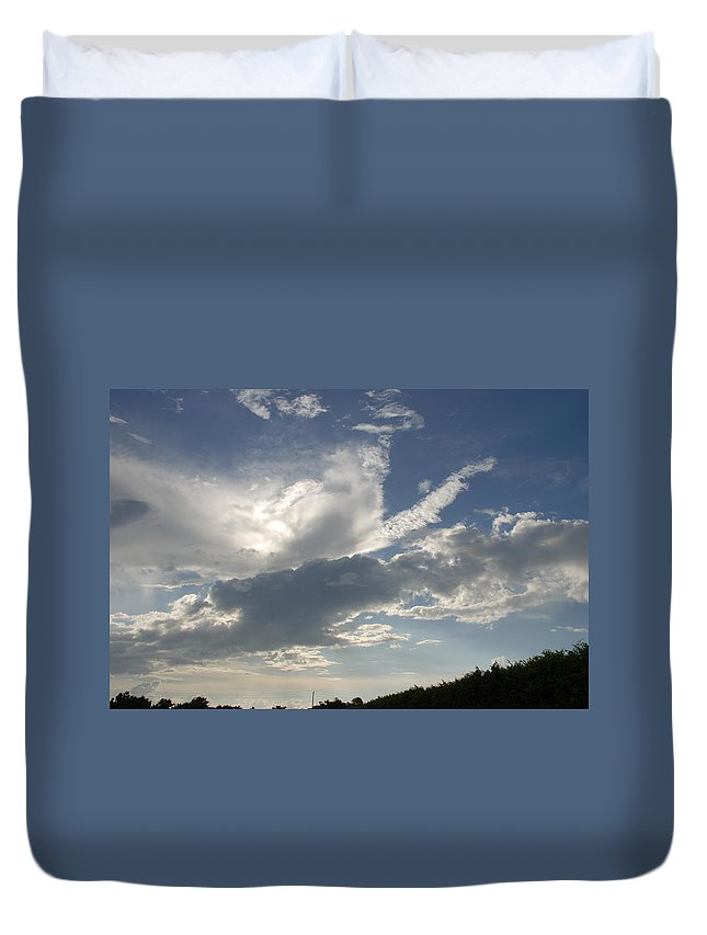 Sky Duvet Cover featuring the photograph Homestead Sky by Rob Hans