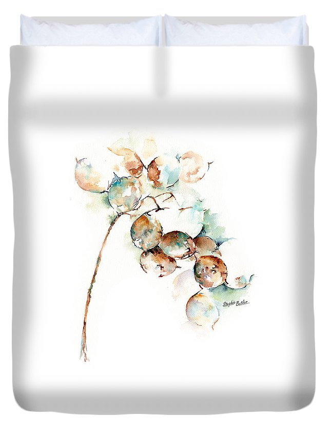 Stephie Butler Duvet Cover featuring the painting Honesty by Stephie Butler