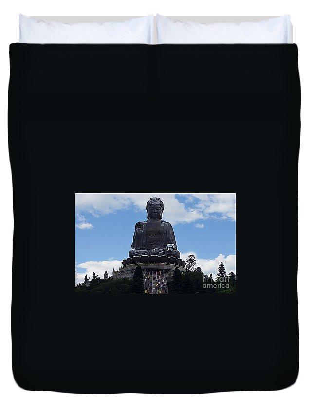 Buddha Duvet Cover featuring the photograph Honk Kong 19 by Ben Yassa