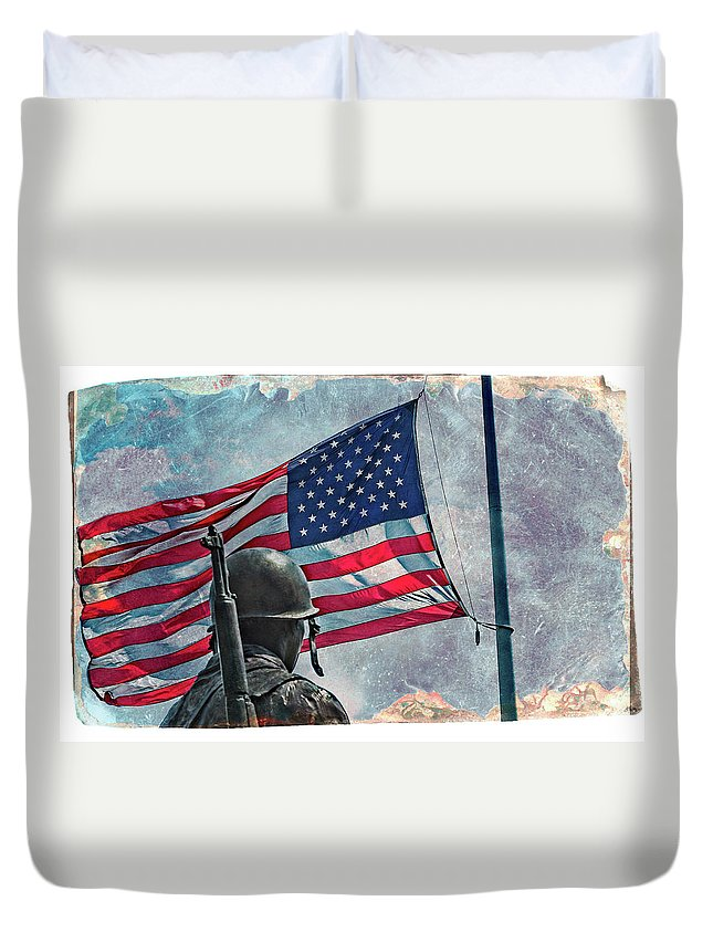 Landscape Duvet Cover featuring the photograph Honor by Jim Love
