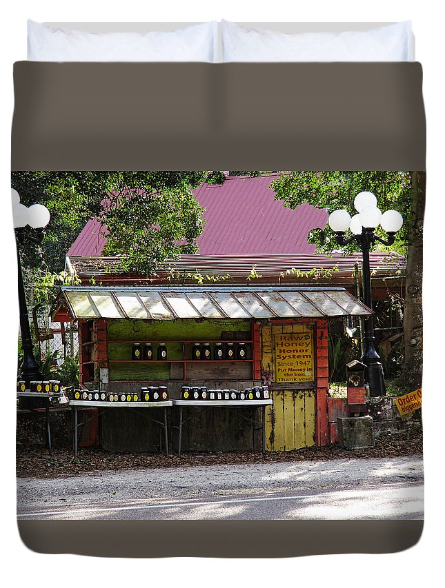 Old Florida Duvet Cover featuring the photograph Honor System In The 21st Century by Roger Epps
