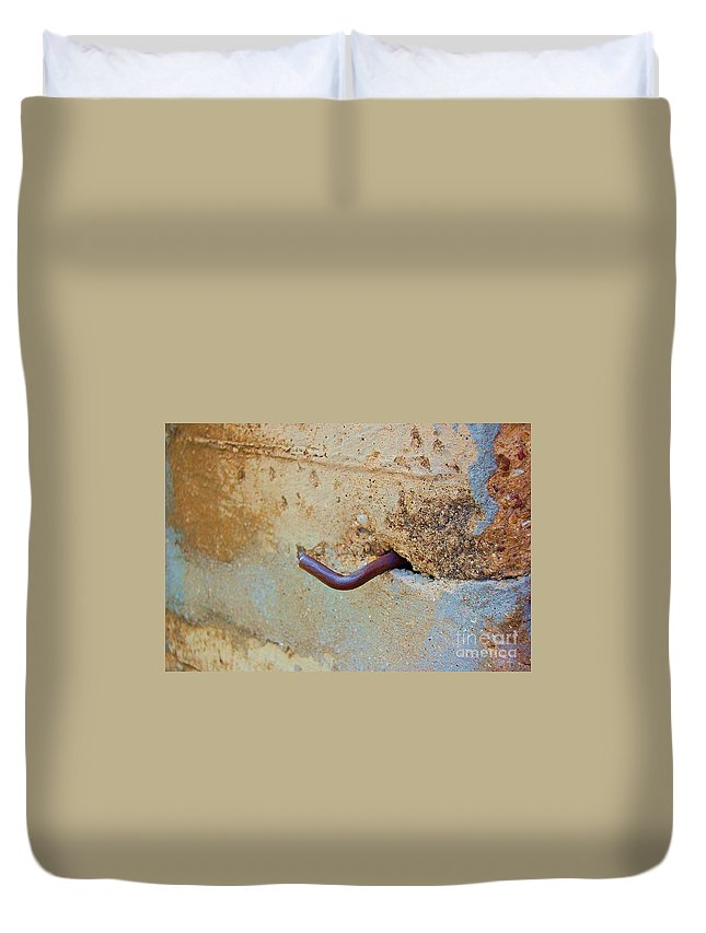Metal Duvet Cover featuring the photograph Hook by Debbi Granruth