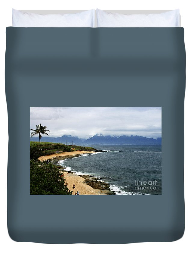 Aloha Duvet Cover featuring the photograph Hookipa Beach Maui North Shore Hawaii by Sharon Mau